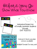 Before You Go Exit Ticket