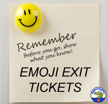Exit Ticket - Know Before You Go Exit Slip