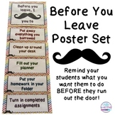 Before You Leave Mustache Poster Set