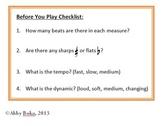 Instrumentalist's Checklist
