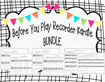 Before You Play Recorder Bundle