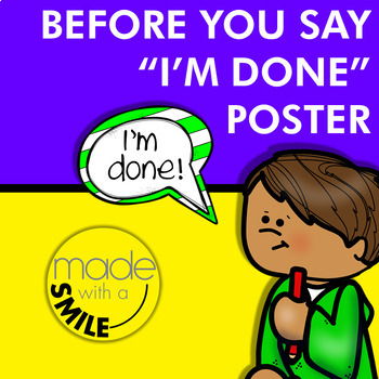 """Before You Say """"I'm Done"""" Poster"""