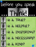 Before You Speak Classroom Sign