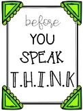 Before You Speak THINK