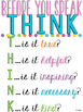 Before You Speak - THINK {Poster}