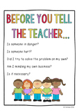 Before You Tell The Teacher Poster