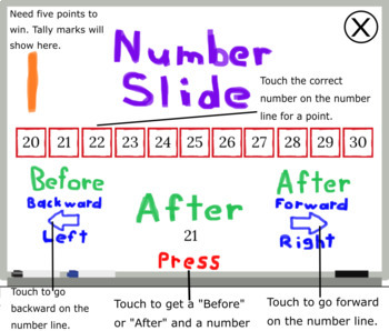 Before and After Number Slide