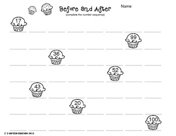 Number counting- Before or after