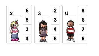 Before and After, Subitize, Number Recognition Clothespin Activity Cards