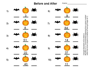 Before and After Halloween