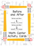 Before and After Math Center Activity (0-20)