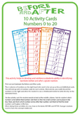 Before and After Number Activity Numbers 0 to 20