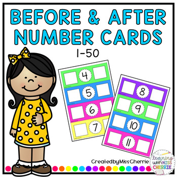 Before and After Number Cards *1-50*