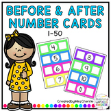 Before and After Number Cards (1-50)
