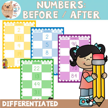 Before and After Number Cards - Differentiated