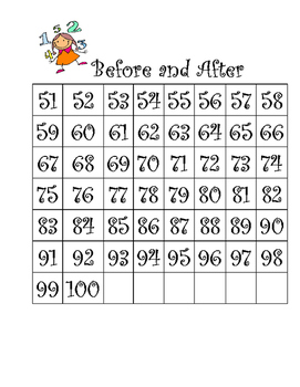 Before and After- Number Sense