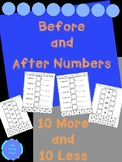Before and After Numbers 10 More and 10 Less (BUNDLE)