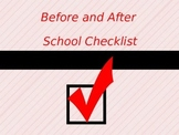 Before and After School Checklist