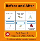 Before and After Sentence Picture Cards