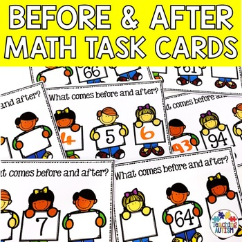 Before and After Task Cards, 0-100, Counting