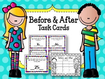 Before and After a Number. Task Cards. Counting to 100