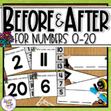 Before and After - numbers 0-20 - Spring Themed