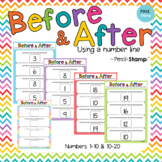 Before and After using a Number Line- Sequencing Numbers 1-20