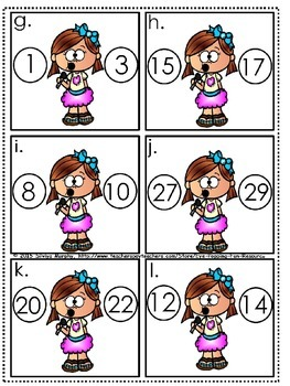 Order of numbers-before,between,after