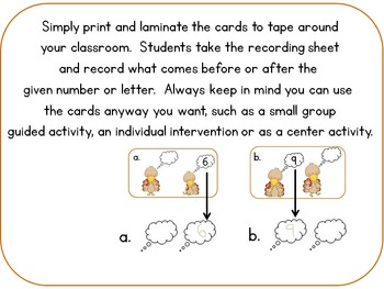 Before or After Write the Room Number and Letter Turkeys