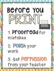 Before you PRINT- Poster and Printable