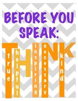 Before you Speak: THINK