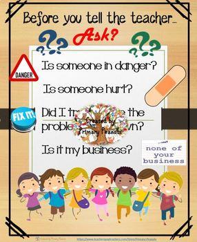 Before you Tell the Teacher (Mind Set Social-Emotional Skills)