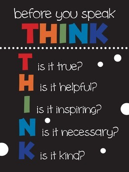 Before you act... Think!