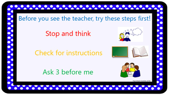 Before you ask the teacher