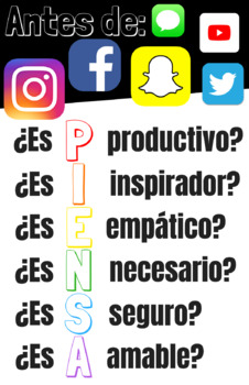 Before you post... Think Poster Spanish