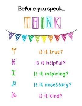 Before you speak, THINK