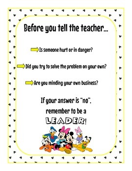 Before you tell the teacher...