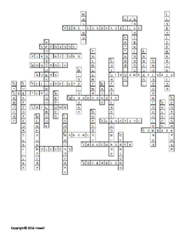 Beg. of the Global age in Europe, Africa, and Asia Vocabulary Crossword