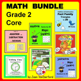 Math Bundle Grade 2 | Core FUN REVIEW | ADDITION | SUBTRACTION | TIME