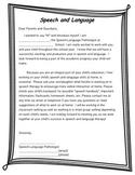 Begin Year Introduction Letter and IEP meeting notice slip