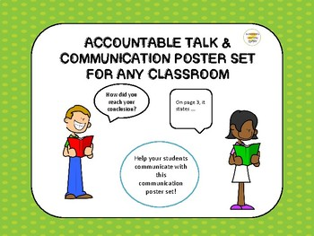 Begin Your Year with Accountable Talk Communication Poster Set