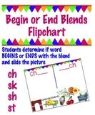 Begin or End Blend Flipchart -  ch , sh, sk, & st