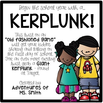 """Begin the School Year with a KERPLUNK: A """"Back to School"""" Game!"""
