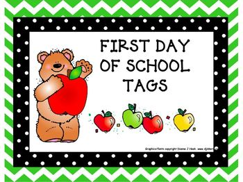 Begin the Year: First Day Tags 2