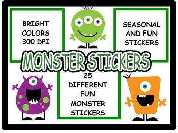 Begin the Year: Monster Stickers