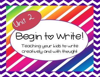 Begin to Write Unit 2-teaching writing with creativity and