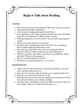 Begin to talk about Reading