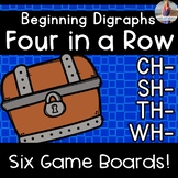 Beginning Digraph Games: Four in a Row