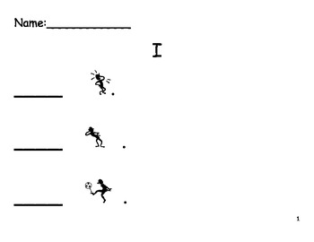 Beginning Sight Word Sentence Practice - Set 1
