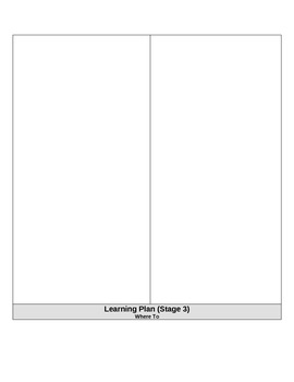 Begining of the Year: Pacing Guide, Lesson Plan Forms, Understanding By Design
